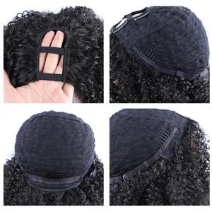 Image 5 - Lydia perruque Afro bouclée crépue U Part synthétique, 16 pouces, couleur naturelle, densité 130, résistante à la chaleur, pour femmes