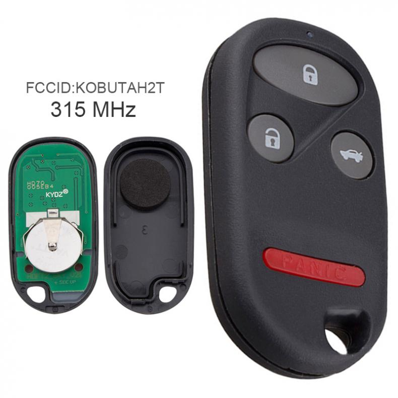 315MHz 3 Buttons Keyless Uncut <font><b>Flip</b></font> <font><b>Remote</b></font> Key For-Fob KOBUTAH2T for 1998 1999 2000 2001 2002 <font><b>Honda</b></font> <font><b>Accord</b></font> image