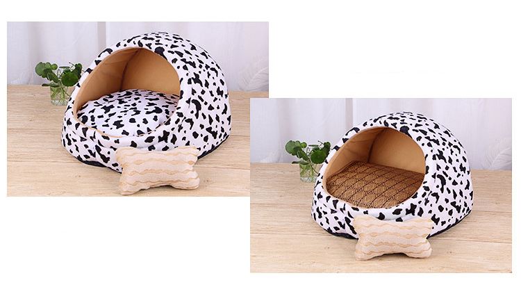 Pet Bed House-Eco-Dogs and Cats indoor Bed-Animal Print
