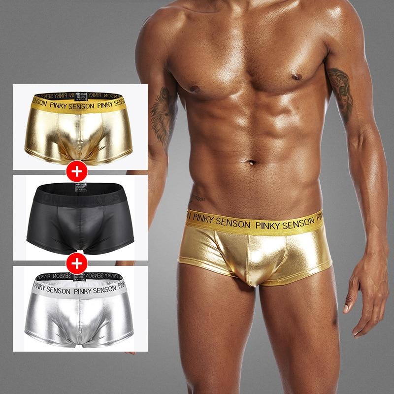 Men's  PU Leather Underwear Boxer Cueca Masculina Calsones Homme Panties Men Ropa Interior Hombre Calzoncillo Cueca Boxers