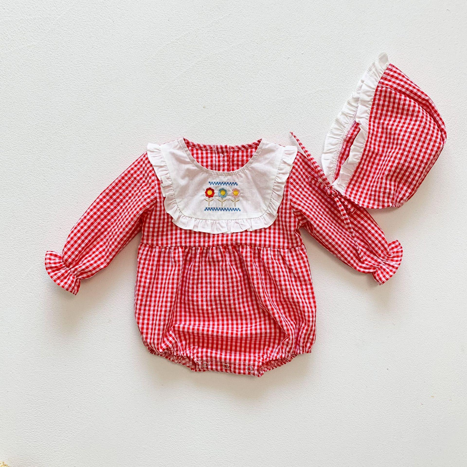 2021 ins nova moda bebê macacão meninas
