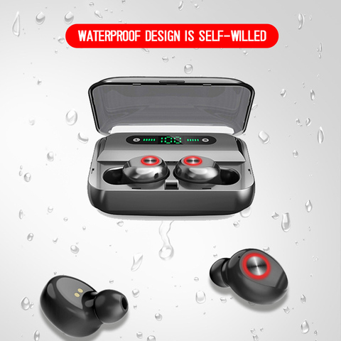 2019 Bluetooth 5.0 Headset IPX5 Waterproof T10B TWS Wireless Earphone Earbuds US Karachi