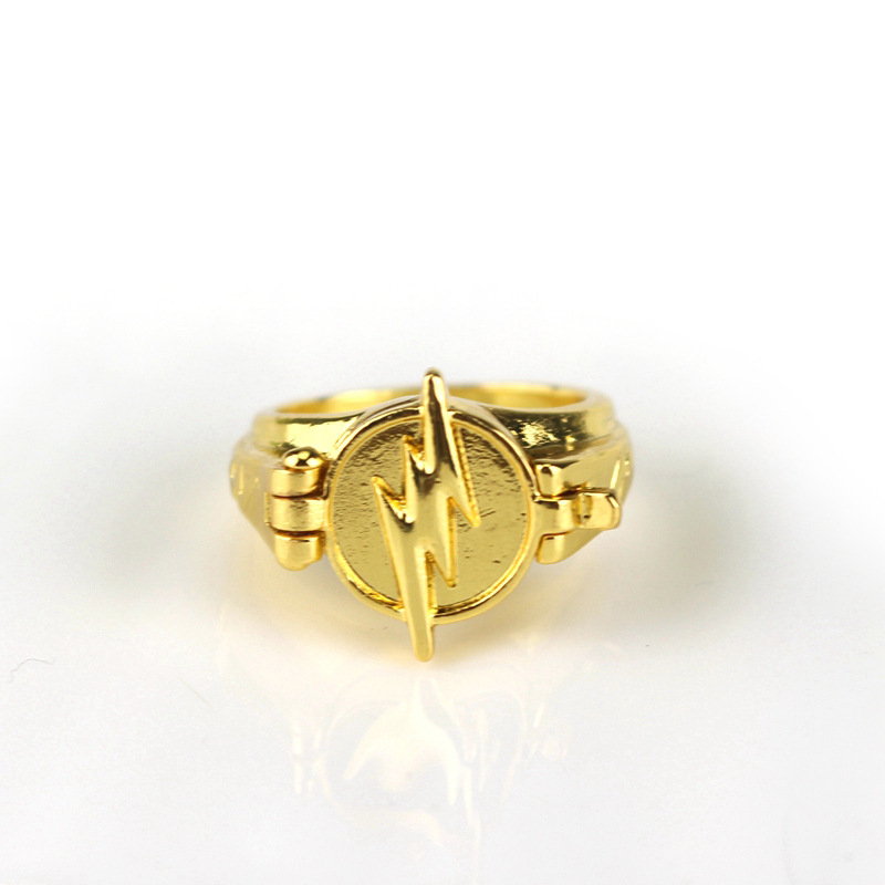 The Flash Reverse Flash Rings Gold Plated Cosplay Costumes Unisex Ring Jewellery