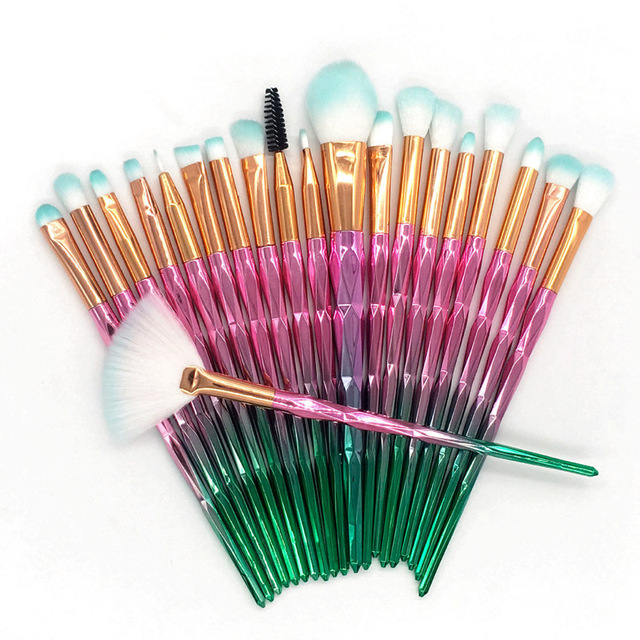 20pcs Diamond Makeup Brush Set Eye Brush Beauty Tools Fan Powder Eyeshadow Contour Beauty Cosmetic Colorful For Make Up Tool 3