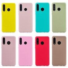 Huawei p30 lite caso de silicone na para funda huawei p20 p30 pro p 30 p30lite caso do telefone bonito doces cor macia capa traseira etui