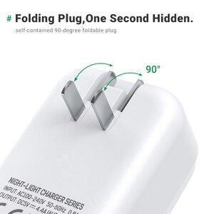 Image 4 - TOPK LED USB Ladegerät 22W 4 Port Telefon Ladegerät EU US UK AU Stecker Adapter Tragbare Reise Wand ladegerät für iPhone Xiaomi mi 10 pro