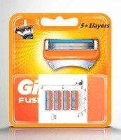 4 stks/pak Scheren 5 + 1 Lagen Scheermesjes Compatibel voor Gillettee Fusione Voor Mannen Gezichtsverzorging