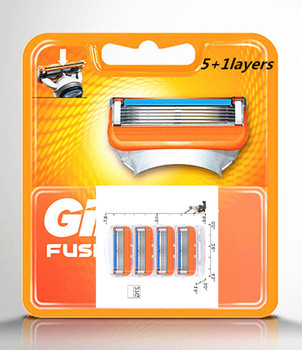 4pcs/pack Shaving 5+1 Layers Razor Blades Compatible for Gillettee Fusione For Men Face Care