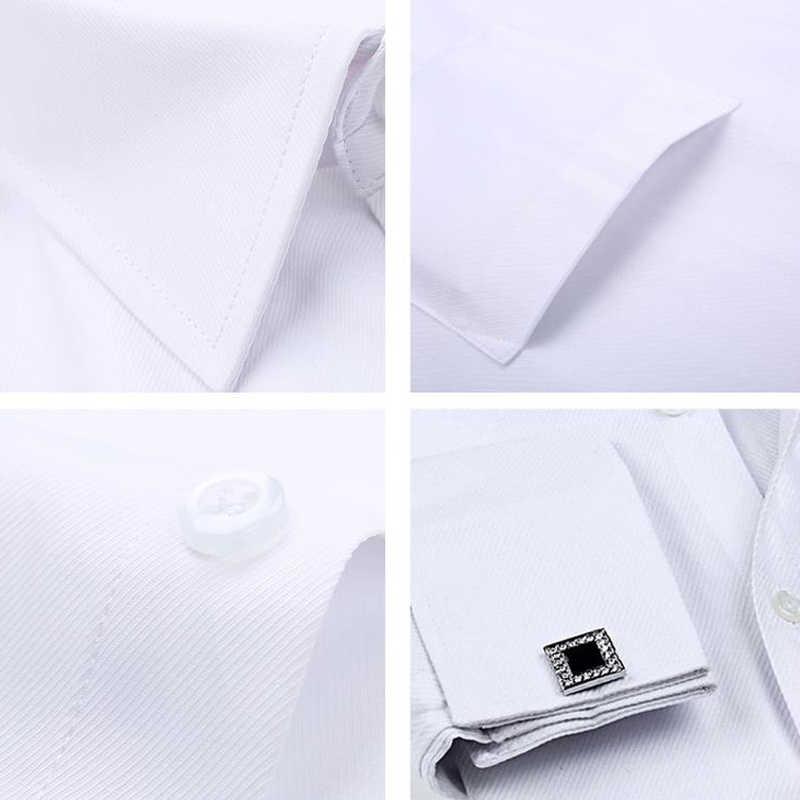 플러스 크기 6XL 크고 키가 큰 망 드레스 셔츠 고품질 유럽 스타일 공식 턱시도 드레스 셔츠 남자 복장 Streetwear A706
