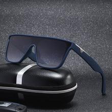 Lunettes de soleil carrées tendance pour hommes, grand cadre, marque de luxe, styliste Vintage rétro dégradé, lunettes de conduite, vente 2021 09, 2020