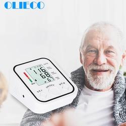 OLIECO Automatic Digital Blood Pressure Monitor Upper Arm Pulse Rate Tonometer Heart Beat Meter LCD Sphygmomanometer LCD Screen