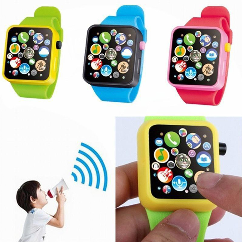 Calendar & Time Smart Watch Children Early Education Toys Wrist Watch 3D Touch Screen Music Smart Teaching Baby Toy Ringing Kids