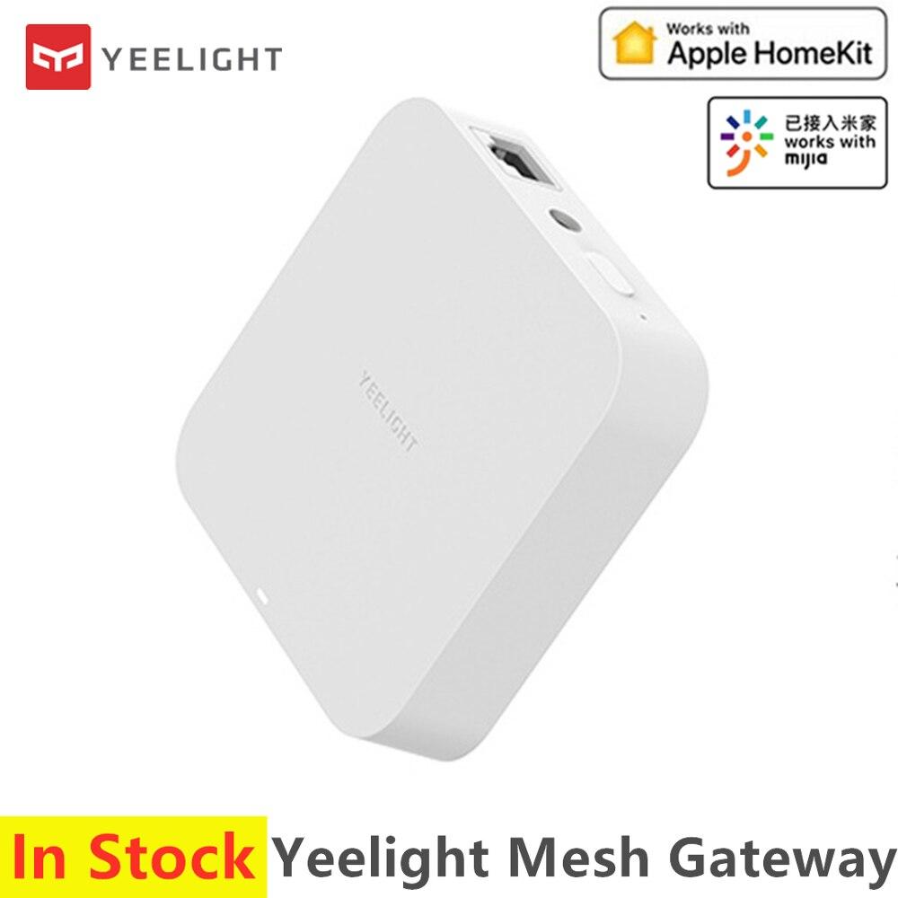2020 nuevo yelight malla Hub de enlace dispositivo de apoyo para los productos de iluminación de malla WIFI modo Dual funciona con Apple Homekit Mijia App Sensor de movimiento 100% Aqara ZigBee, Sensor de cuerpo humano, conexión inalámbrica de seguridad con movimiento, entrada de luz de intensidad 2 Mi, aplicación para hogares
