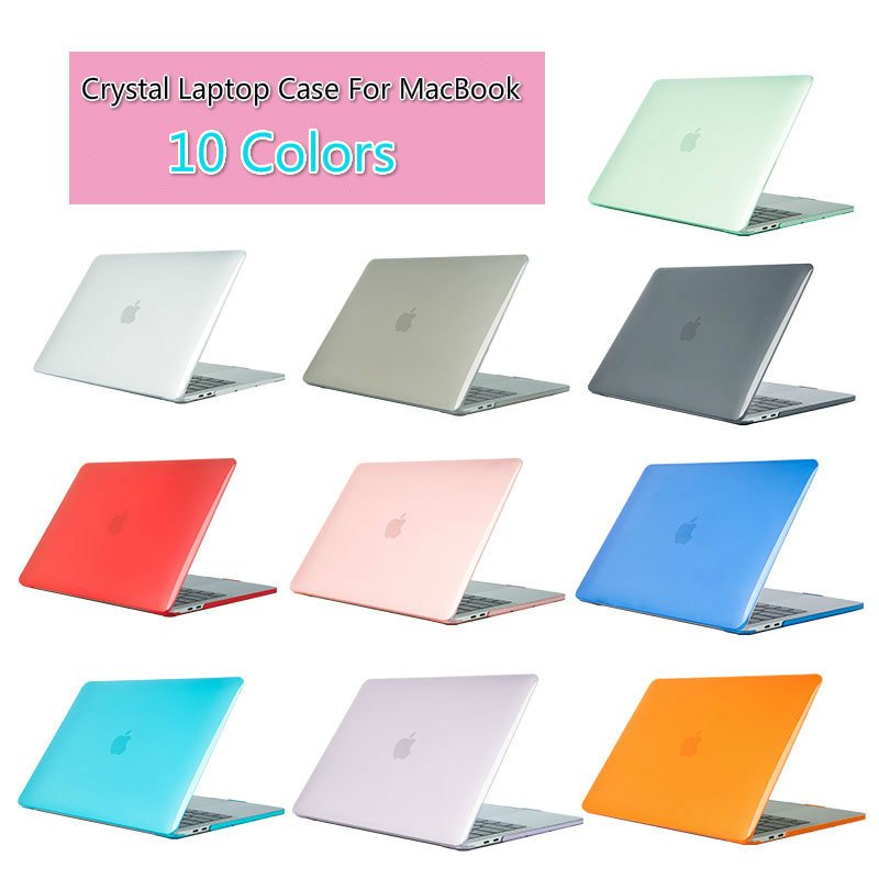 Crystal Laptop Case For MacBook Touch ID A1932 2018 Cover,For Macbook Air 13 A1466 A1369 Pro Retina 11 12 13 15.4 15 Hard Shell