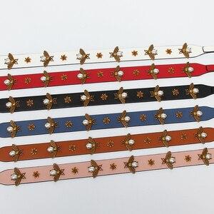 Image 5 - Mode or abeille bracelet en cuir PU sac à main accessoires remplacement large sac à bandoulière sangles femmes conception Corssbody sac sangle ceinture