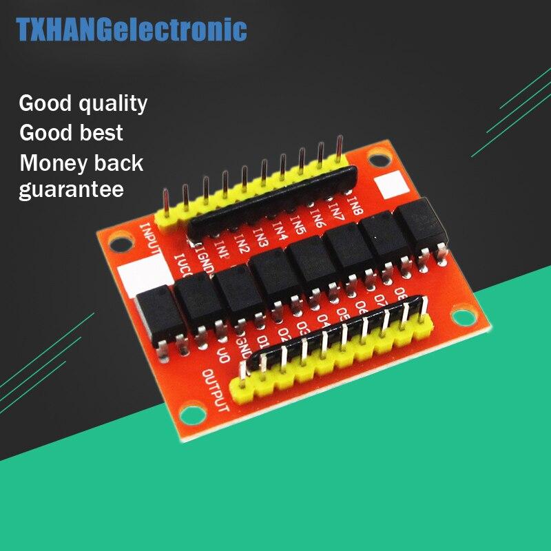8 канальная оптопара изоляционная плата, преобразователь напряжения, модуль драйвера, фотоэлектрический изолированный модуль, сделай сам, ...