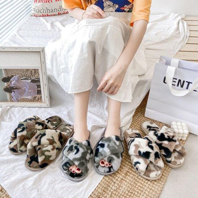 Фото mudibear тапочки для женщин теплые зимние удобные модная дышащая