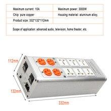 цена на 300W 15A AC220V 50HZ Universal power filter Purifier socket Band voltage display socket adapter Product keyword socket