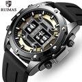 RUIMAS мужские часы Топ люксовый бренд мужские модные силиконовые спортивные кварцевые часы мужские повседневные деловые наручные часы Relogio ...