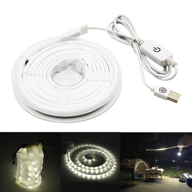 Tent LED Light Strip waterproof Outdoor Camping Warm White lamp Portable impermeable flexible neon Strips ribbon Lantern Lights 1
