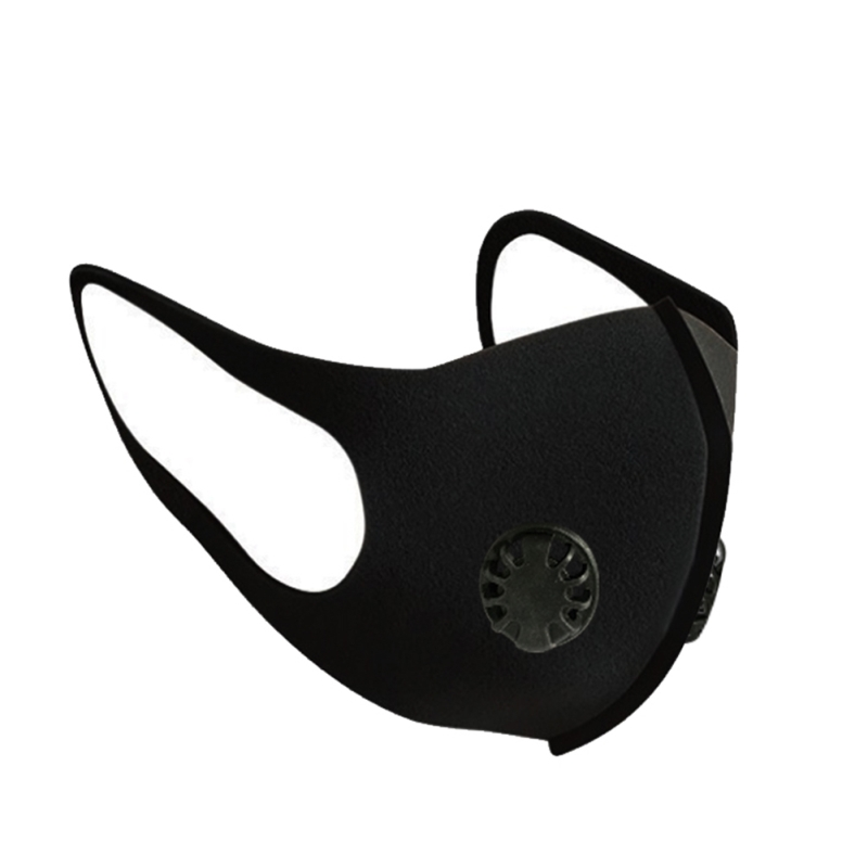 Adult Ordinary Outdoor Dust-proof Black Valve+Filters Mask Breathable And Comfortable Anti-fog And Breathing Valve Mask
