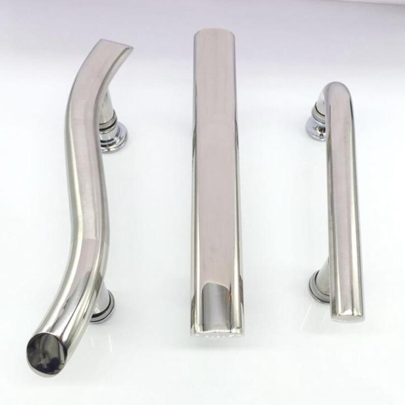 Polished Double Hole Enclosure Shower Door Handle For Shower Cabin Accessories Glass Sliding Door Door Handles Home Improvement - title=