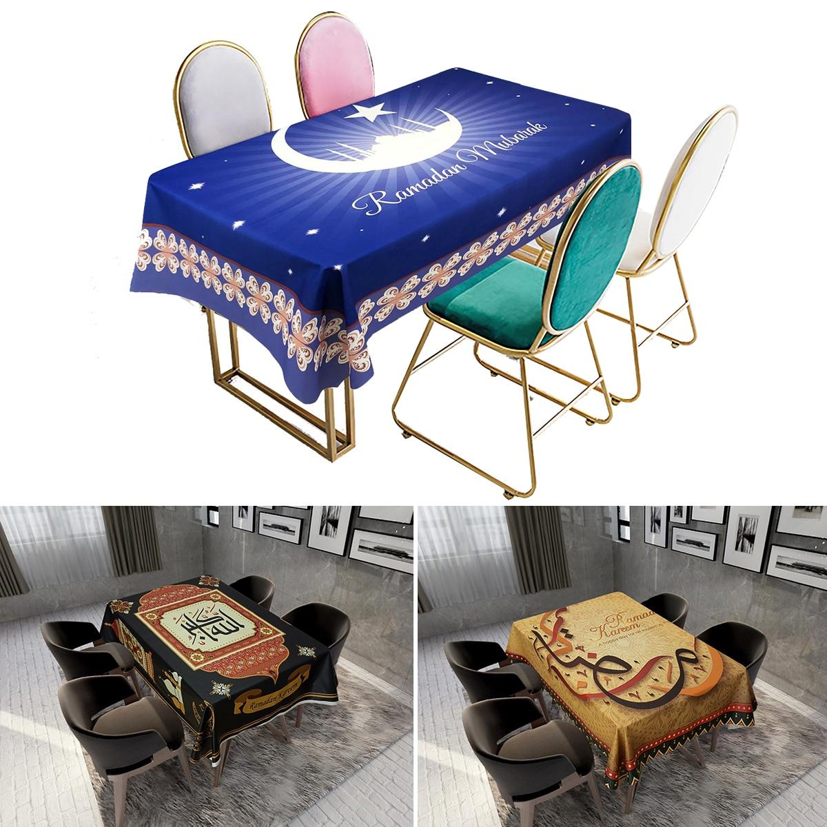 Eid Mubarak Tablecloth Islamic Muslim Party Decor Ramadan And Eid Decor Kareem Ramadan Decor For Home Happy Eid Al Adha Gifts