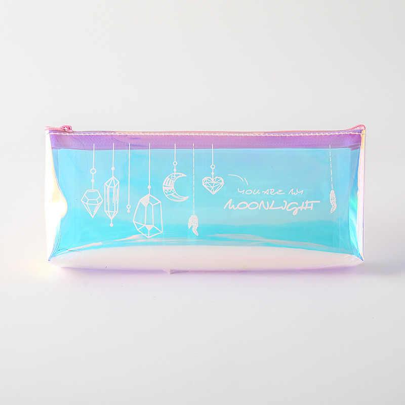 1 sztuk śliczne diament piórnik Kawaii piórnik kreatywny pióro laserowe Case dla dziewczyn prezenty do szkoły materiały biurowe biurowe