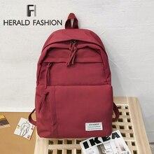Herald Fashion Student Classic Waterproof Backpacks Nylon Multi-pocket Backpack Big Capacity Backpacks Teenage Girls Schoolbag