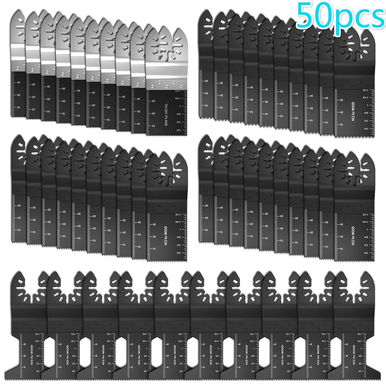 50pcs Multi-Function Bi-metal Precision Saw Blades Oscillating Blade Multi Wood Cutting Kit Tool Circular Saw Blade