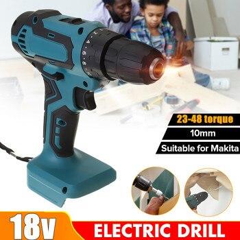 цена на 18V 21V 90NM Rechargable Electric Drill Cordless Hand Drill Mini Electric Screwdriver 10mm DIY Power Tool for Makita batter