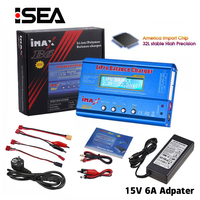 HTRC iMAX B6 80W Batterie Ladegerät Lipo NiMh Li-Ion Ni-Cd Digital RC IMAX B6 Lipro Balance Ladegerät entlader + 15V 6A Adapter