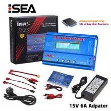 Htrc imax b6 80w lipo nimh li-ion ni-cd digital rc imax b6 lipro balance carregador descarregador + 15v 6a adaptador