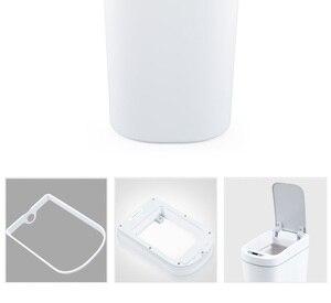 Image 4 - Orijinal Youpin NINESTARS akıllı çöp tenekesi hareket sensörü otomatik sızdırmazlık LED indüksiyon kapağı ses 7L ev Ashcan kutuları moda