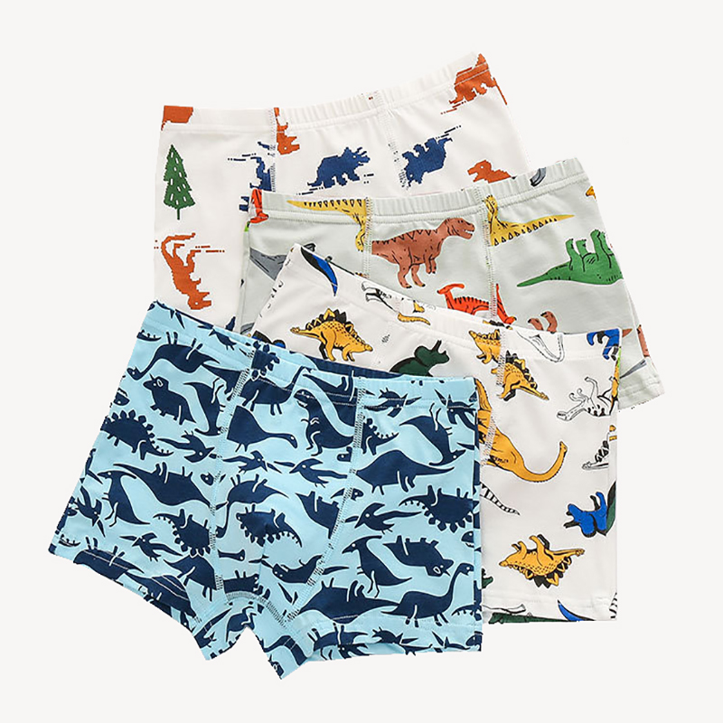 1 Pcs Baby Boys Panties Cotton Dinosaur Cars Underwear Boxers Underpants For Kid Children's Underwear Clothing Kids Underwear