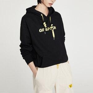Image 4 - Toyouth moda bordado hoodies feminino outono manga longa carta impresso fatos de treino com capuz camisolas para mulheres topos