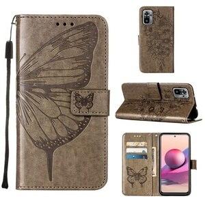 Image 5 - Vlinder Bloem Leather Telefoon Case Voor Xiaomi Redmi Note 10 10S Pro 9 9T Poco X3 Nfc F3 m3 Mi 10S 11 Wallet Flip Back Cover
