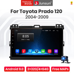 Junsun V1 Pro 4G CarPlay Android 10 4G+64G Car Radio Player For Toyota Prado 120 2004 2005 2006-2009 GPS no 2din 2 din dvd