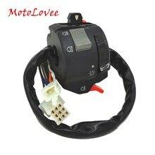 MotoLovee High Quality 22mm Handlebar Control Switch Button Motorcycle Headlight Fog Light Turn Signal Universal 7/8
