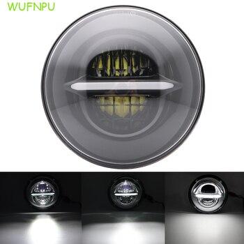 7inch  round LED headlight H4 whiteDRL high / low beam motorcycle headlight