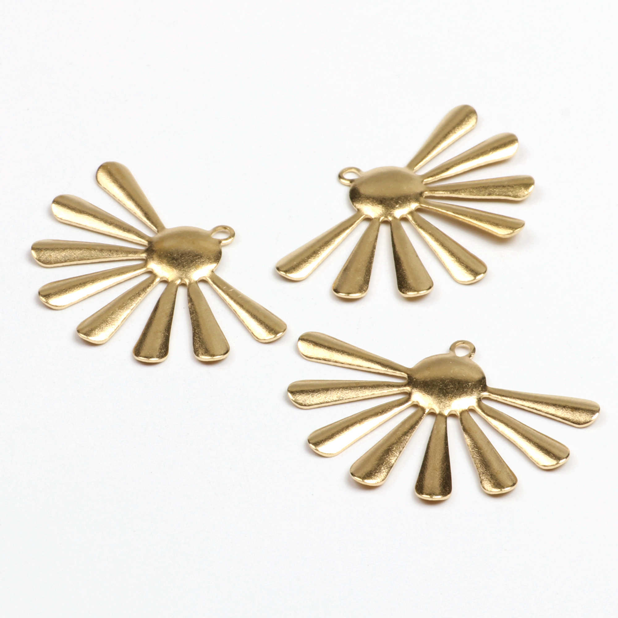 Brass Textured Drop  Charms MT220 Raw  Brass 2 Hole Drop Circle Charms Findings 0.8x7.5x14.5 mm