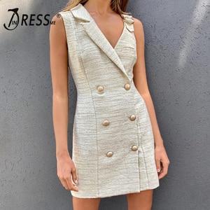 Image 2 - Короткое платье INDRESSME женское без рукавов, с треугольным вырезом