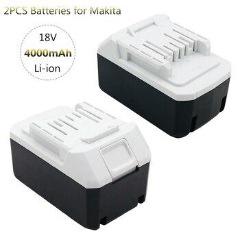 2 uds 18V 4,0 Ah BL1813G batería de iones de litio para Makita BL1815G UH522D JV183D UR180D JV183D Taladro Inalámbrico (solo para la serie CXT)