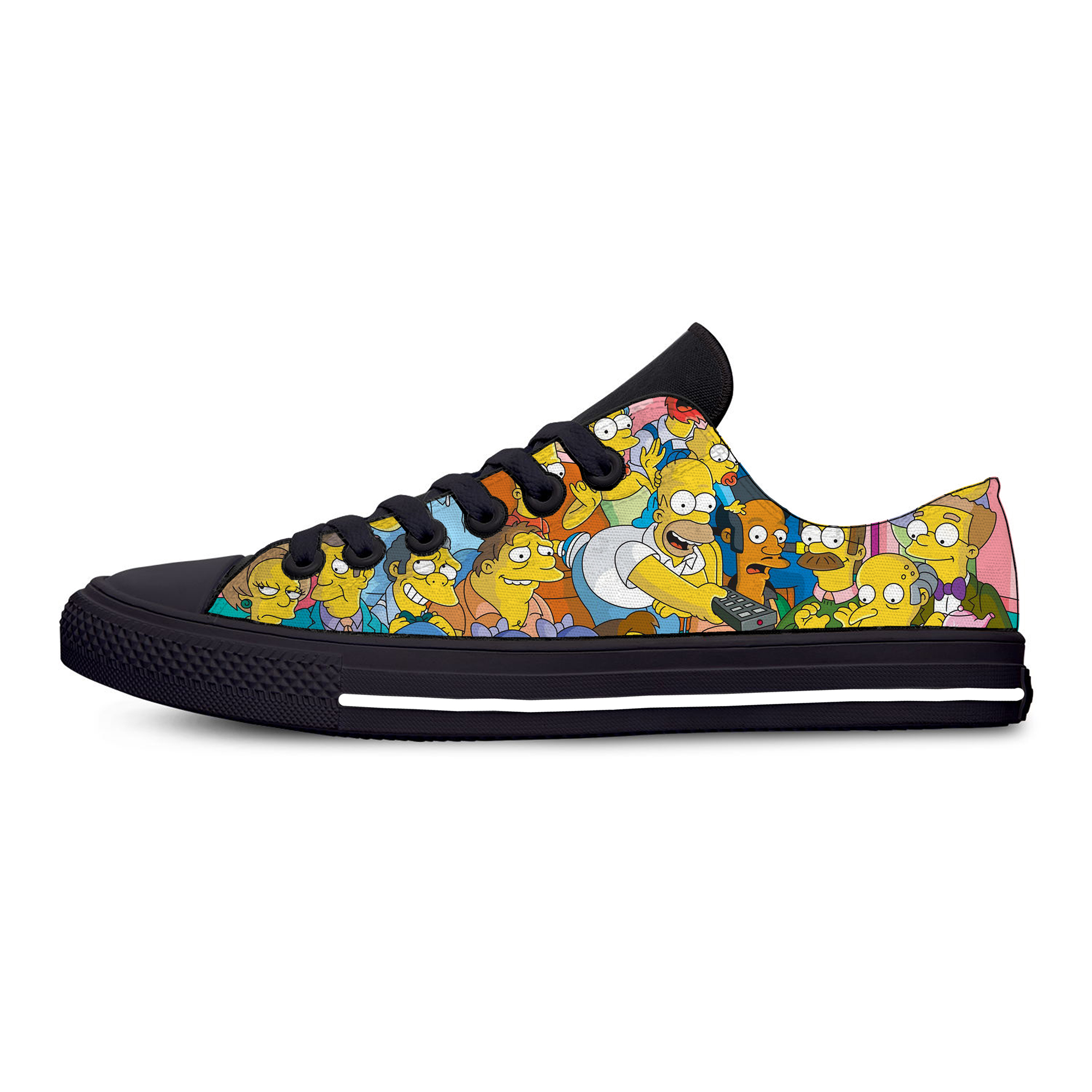 Anime Cartoon Simpson Hot Fashion Funny Humor Casual Canvas Shoes Low Top Lightweight Breathable 3D Printed Men Women Sneakers