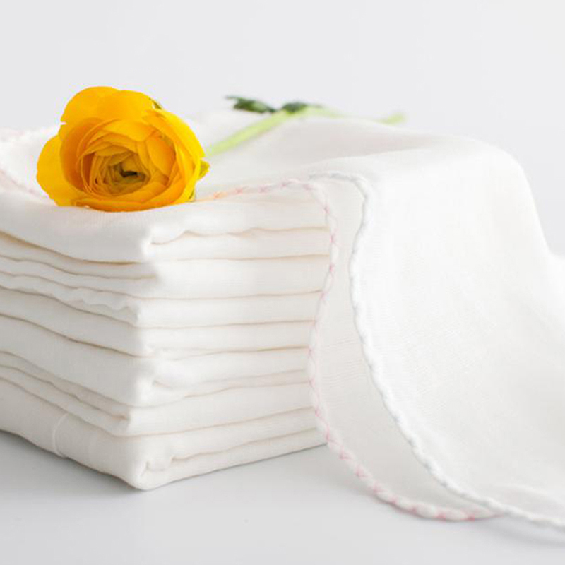 10Pcs/pack Baby Bath Towel Newborn Muslin Gauze Towels Handkerchief Kids Feeding Burp Cloth Scarf Face Washcloth Wash Supplies