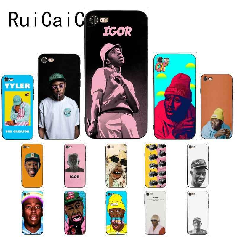 Ruicaica Tyler die creator igor album Schwarz TPU Weichen Telefon Fall für iPhone 8 7 6 6S 6Plus X XS MAX 5 5S SE XR 10 Abdeckung