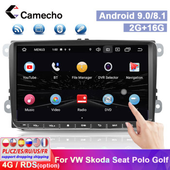 Camecho 2Din Car Radio Android Autoradio Car GPS Multimedia Player 2din Car Stereo For VW Passat Golf Jetta POLO Skoda Seat Golf image