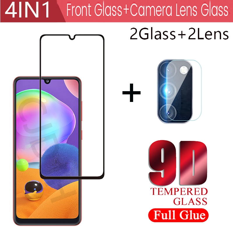 4 IN 1 Full Gule Screen Protector Tempered Glass For Samsung Galaxy A31 A42 protective Glass For Sam