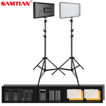 SAMTIAN video light 2 kit 240PCS LED Panel Light Dimmable Studio Light with Tripod for Photo Studio Photography light lighting samtian 2sets led video light with tripod dimmable 3200 5500k 600 leds panel lamp for studio photo photography lighting
