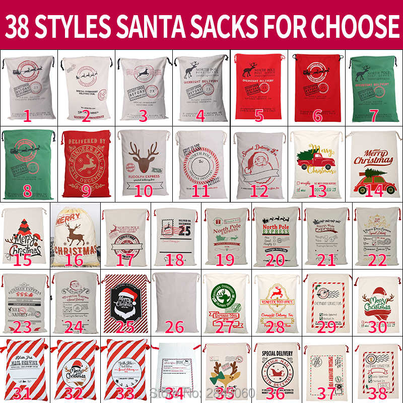 Bolsas de Regalo de Lona con cord/ón Reutilizable Bolsa de Regalo Grande Tama/ño de Almacenamiento de Saco Bolsa de Navidad de Lona Bolsa de Saco de Santa 2 PCS Red Candy Cane Stripes
